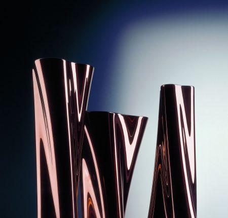 """TriTurn"" Vase Metalize Serie"